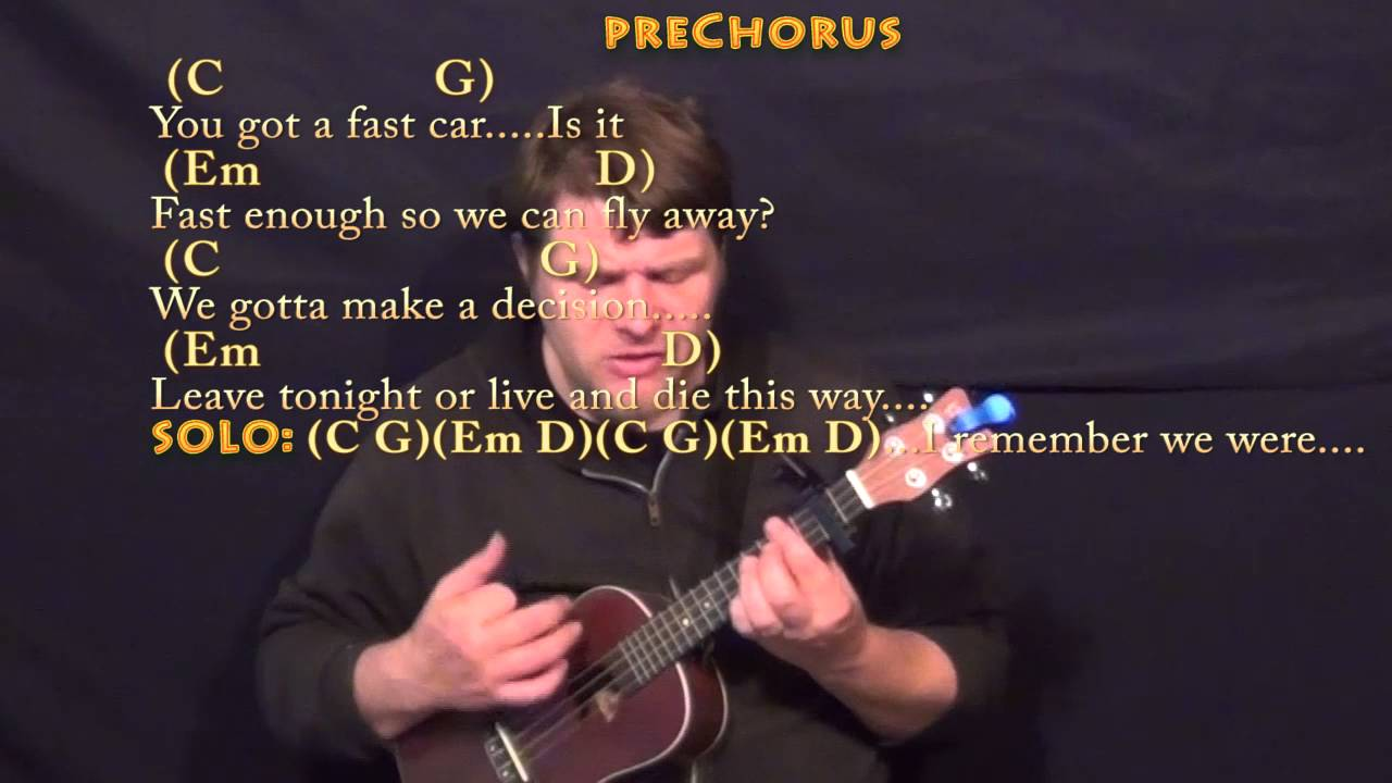 Fast Car (Tracy Chapman) Ukulele Cover Lesson With Chords
