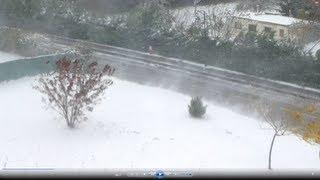 RARE tempête neige 28 octobre 2012 ANNECY ALPES météo 28/10