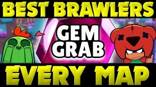 BEST Brawlers in Each Map for RANDOMS or TEAMS in Gem Grab! | Brawl Stars Map Breakdown Guide