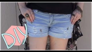 DIY Jewelry Re-purpose & Reconstruct With Distressed Denim Shorts Thumbnail