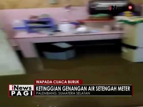 Hujan selama 4 jam akibatkan genangan dan banjir dikota Palembang - iNews Pagi 13/09 Mp3