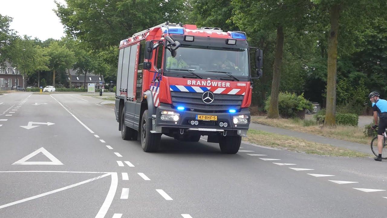 P1 Brandweer Schaijk met spoed naar autobrand in Schaijk