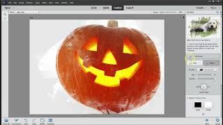 DIY Rustic Halloween Pumpkin Art