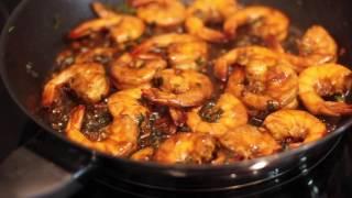 Жаренные Креветки рецепт соус к креветкам