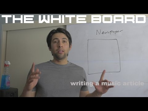 How to write a music article - the right way!