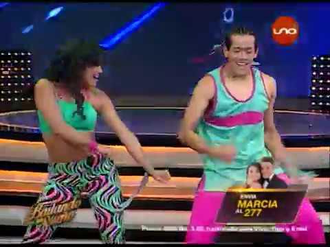 ¡Marcia Franco & Arlhinson Samaniego bailan #Zumba! #Bailando2017