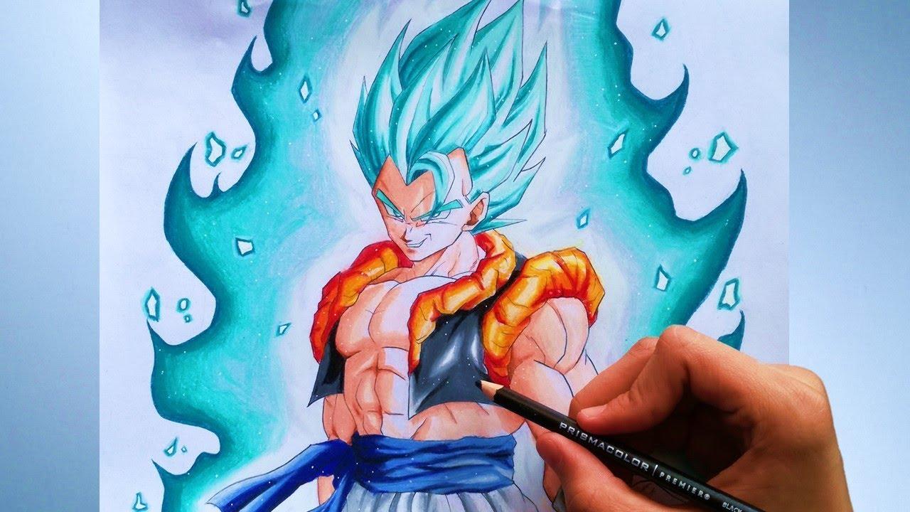 Cómo Dibujar A Gogeta Ssj Blue Dragon Ball Supercon Lápices Prismacolor Premier How To Draw Gogeta