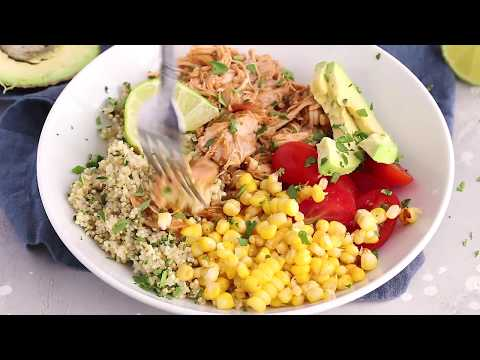 (Instant Pot) Chipotle Chicken Bowls With Cilantro Lime Quinoa
