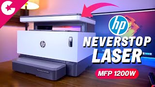 HP Neverstop MFP 1200W Laser Printer Unboxing & Overview!!
