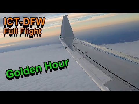 *Full Flight* American Eagle ERJ-175 ICT-DFW