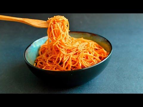Vegan Chili Thai Pasta - Low Fat & Whole Wheat