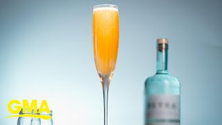 Feeling peachy? Treat yourself to this Sparkling Peach Mimosa  GMA Digital