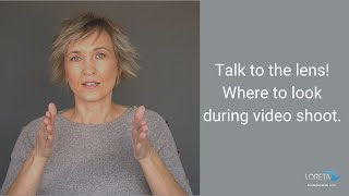 On video production set: where to look during video shoot?