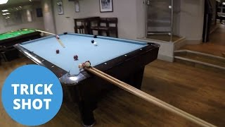 Pool hall creates the world's greatest ever trick shot.
