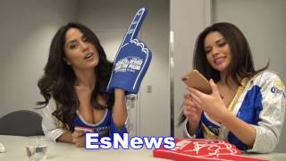 Ring Girls of kovalev vs ward talk to EsNews Boxing