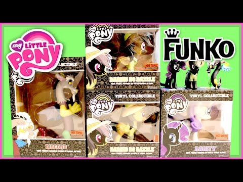 Vinyl Collectible MLP Discord, Rarity And DaringDo By Funko - My Little Pony
