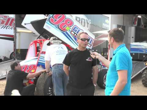 Steve Kinser and Dave Blaney Interviews during World of Outlaws at New Egypt Speedway