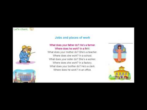 "Bài hát ""Jobs and places of work""-tiếng Anh lớp 4"