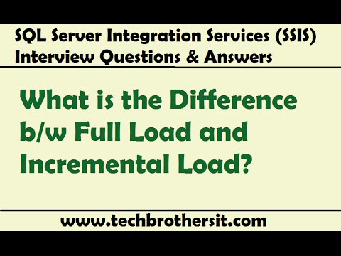 Difference b/w Full Load and Incremental Load - SSIS Interview Questions &  Answers