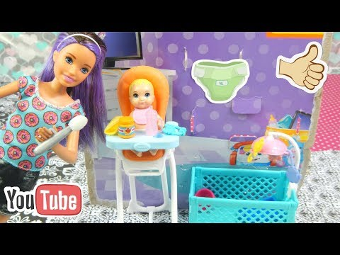 Unboxing the Barbie Skipper Babysitting Set!!!!!