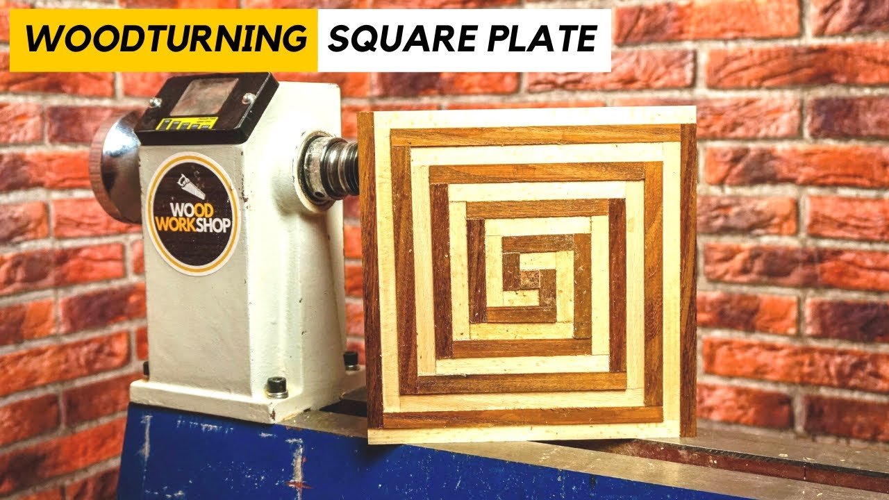 Woodturning a Square Plate