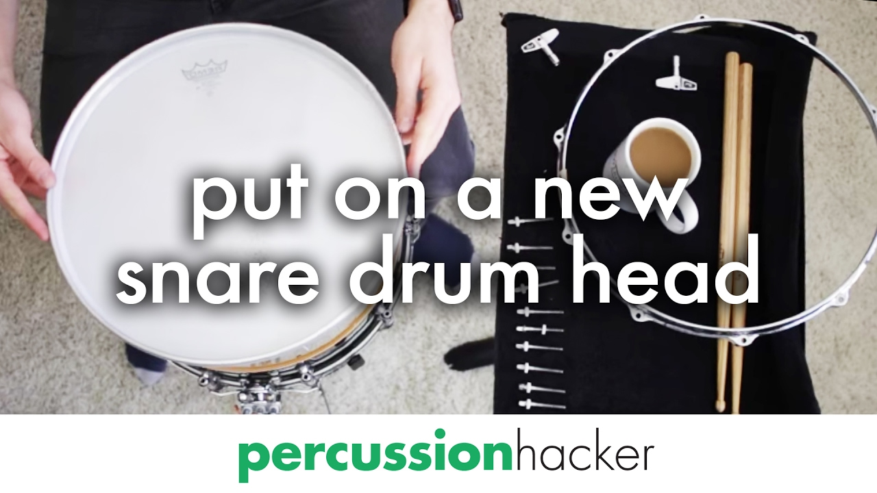 how to put on a new snare drum head youtube. Black Bedroom Furniture Sets. Home Design Ideas