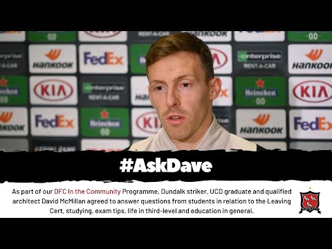 #AskDave | Dundalk FC In the Community