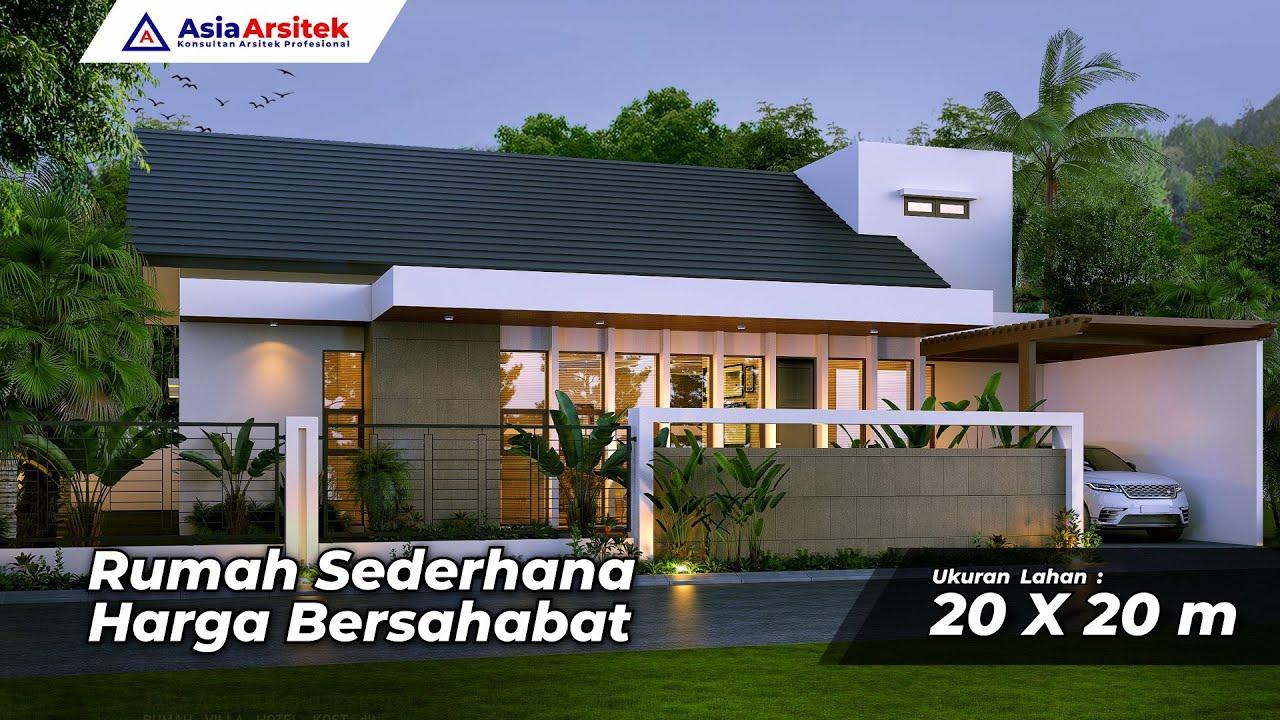 Desain Rumah 20x20 Meter 6 Kamar Minimalis Modern Pak Hafil Jakarta Pusat - Asia Arsitek - YouTube