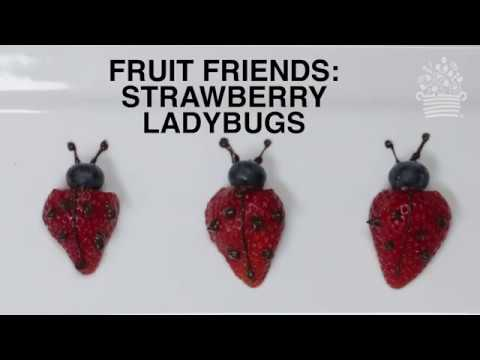Kids Fruit Friends: How to Make Ladybug Fruit Art