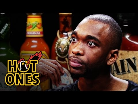 Jay Pharoah Has a Staring Contest While Eating Spicy Wings | Hot ...