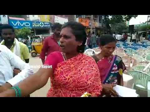 Ladies Fire on CM KCR for Batukamma Sarees Distribution