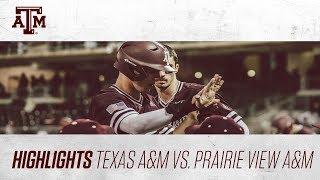 Baseball: Highlights | A&M 9, PVAMU 1