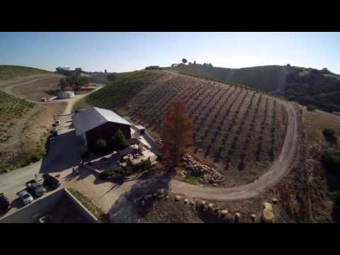 Rotta Winery in Paso Robles, CA Aerial Vineyard Footage