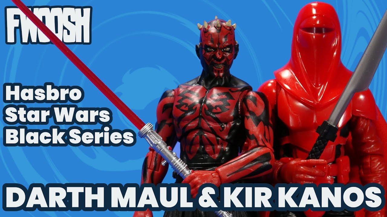 Star Wars Black Series Darth Maul & Kir Kanos Lucasfilm 50th Anniversary Hasbro Action Figure Review