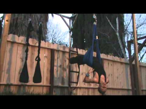 101 cool moves on 'hanging ladder'  yoga swing  youtube