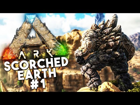 ARK Scorched Earth DLC: Episode 1 -DEATH WORM, GOLEM, WYVERN, DRAGONS (Ark: Survival Evolved)
