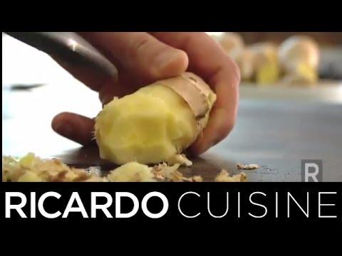 peler du gingembre sans gaspiller | ricardo cuisine - youtube