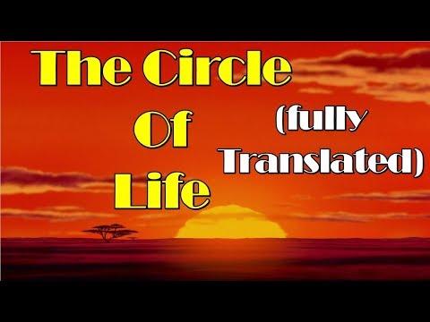 The circle of Life (English translation)