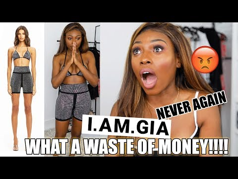 I SPENT $800 ON A CLOTHING BRAND..AND I FEEL LIKE I WASTED MY MONEY...WHAT A DISAPPOINTMENT | IAMGIA
