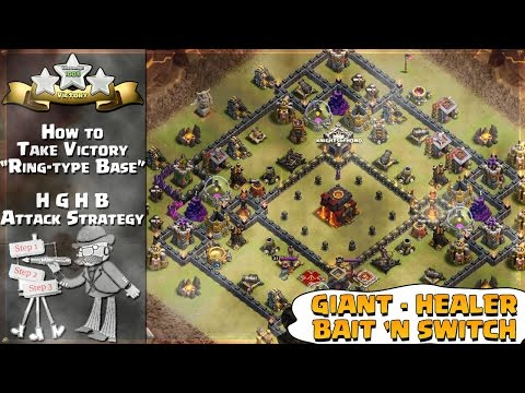 Clash of Clans: How to HGHB Attack Strategy on TH10 Ring-type Base