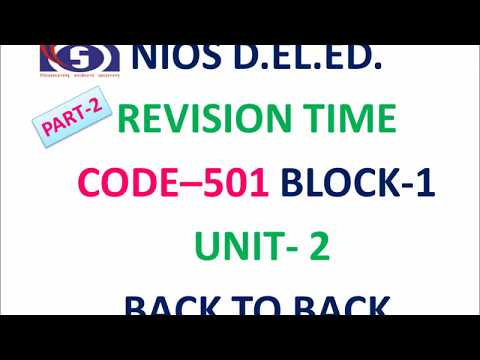 REVISION TIME  CODE–501 BLOCK-1  UNIT- 2
