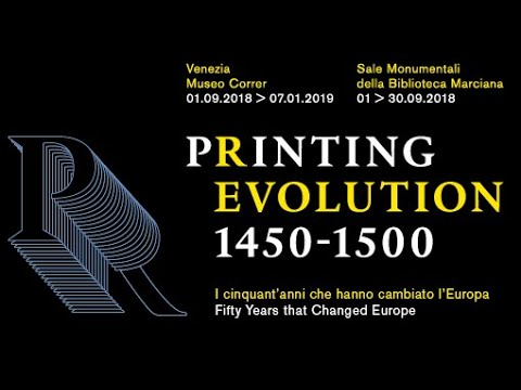 2.1 Printing Revolution & Society 1450-1500. Venice Conference, Palazzo Ducale, 19-21 Sept. 2018