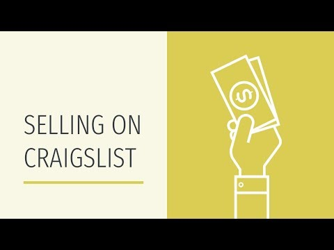 How to Sell Something on Craigslist