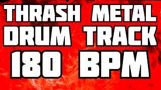 THRASH METAL DRUMS ONLY // 180 BPM // BACKING TRACK FOR GUITAR