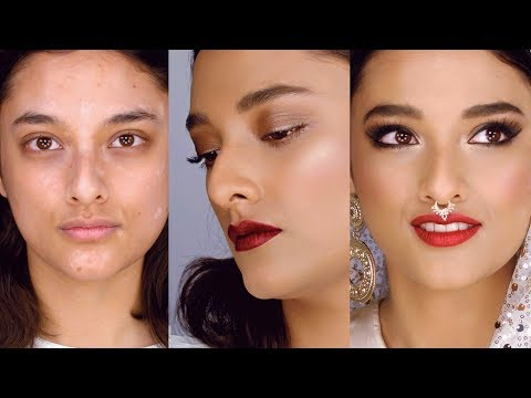 One bride, two makeup looks (plus vitiligo)! East meets West makeup tutorial