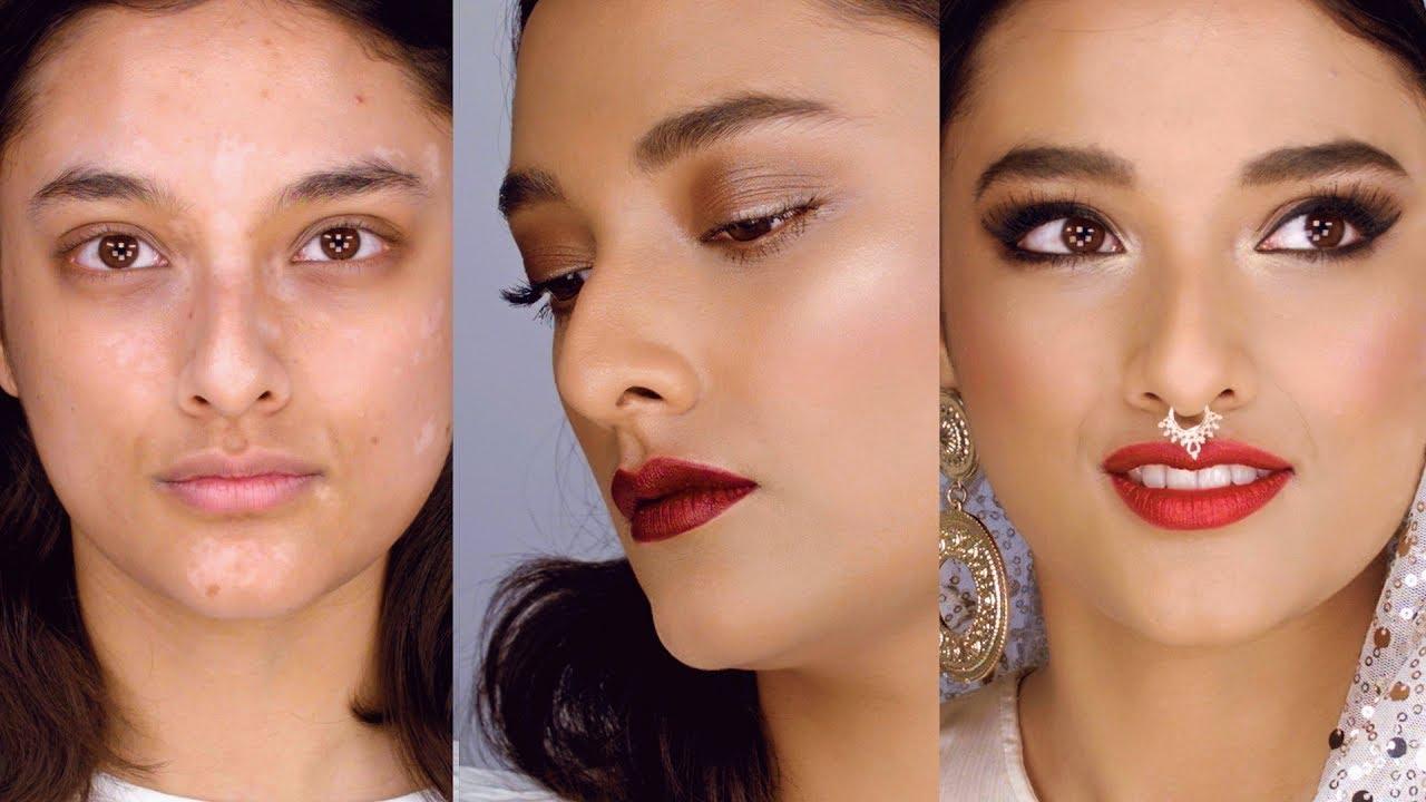 One bride, two makeup looks (plus vitiligo)! East meets West makeup tutorial