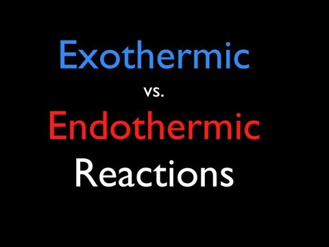Exothermic vs. Endothermic Reactions