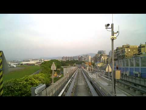 MRT Neihu Line from Songshan Airport to Zhongshan Junior High School