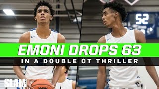 Emoni Bates Erupts For 63 Points & 21 Rebounds In A Double Overtime Win