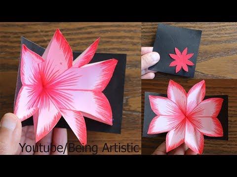 DIY Flower Pop up Card 10-Paper Crafts-Handmade Craft